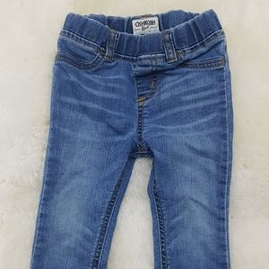 Oshkosh pull on girls   Denim jeans 18 months